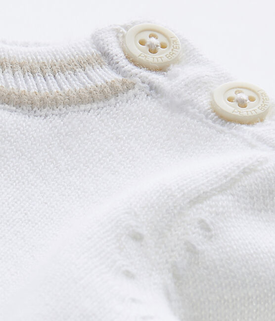 Baby boy's knit sweater Marshmallow white