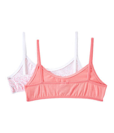 Set of 2 girls' bras