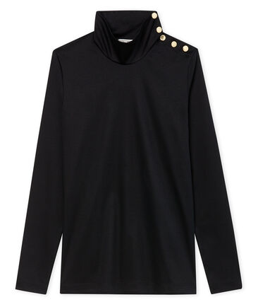 women's roll neck polo neck with buttons