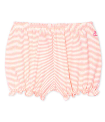 Baby Girls' Pinstriped Bloomers Patience pink / Marshmallow white