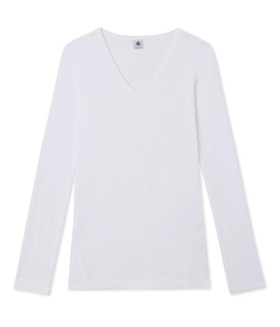 Women's long-sleeved T-shirt Ecume white