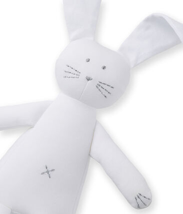 Babies' Jersey Bunny Comforter Ecume white
