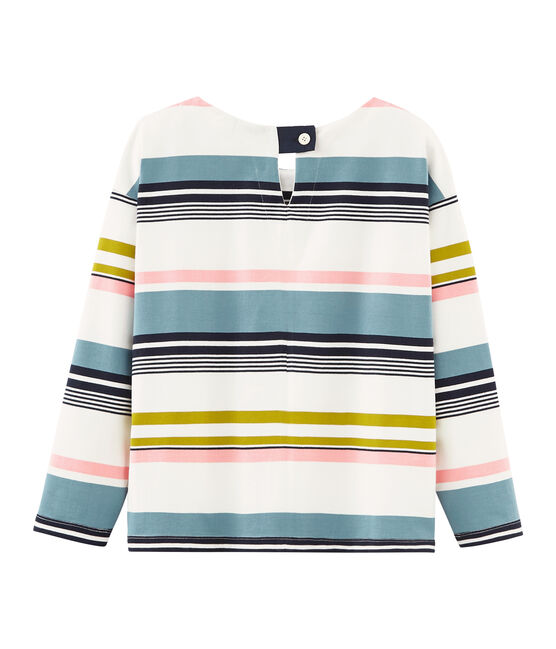 Women's stripy breton top Marshmallow white / Multico white