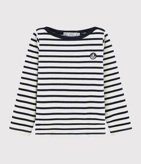 Boys' /Girl's Sailor Top Marshmallow white / Smoking blue