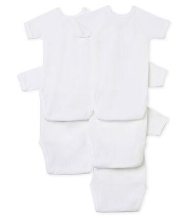 Unisex Babies' Short-Sleeved Newborn Bodysuit - Set of 5