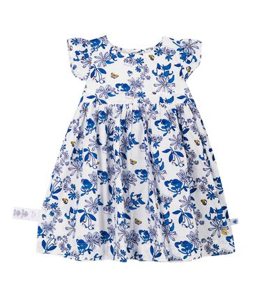 Baby girls' printed dress Marshmallow white / Multico Cn white