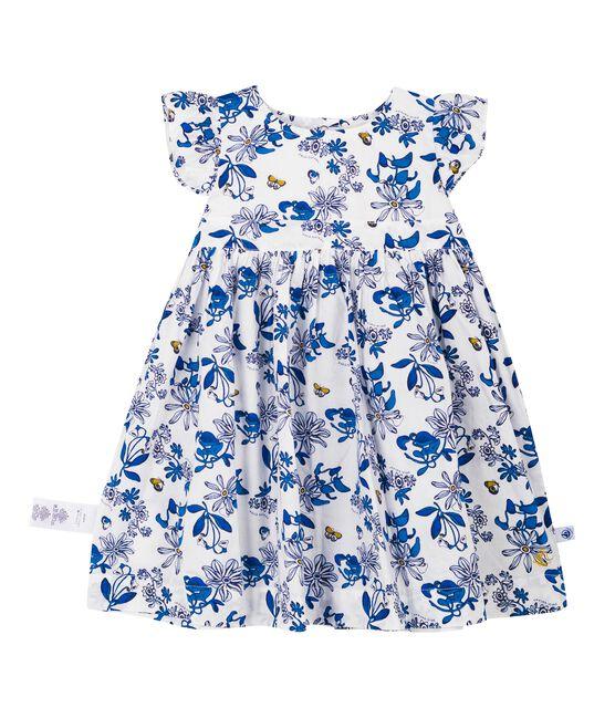 Baby girls' printed dress Marshmallow white / Multico Cn white