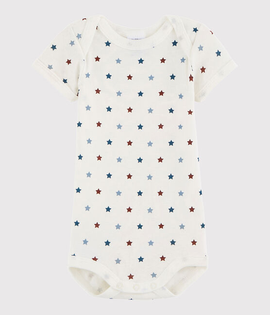 Unisex Babies' Short-Sleeved Bodysuit Marshmallow white / Multico white
