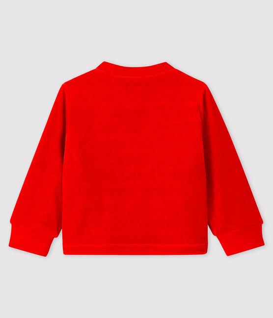 Baby boy's velour cardigan Terkuit red