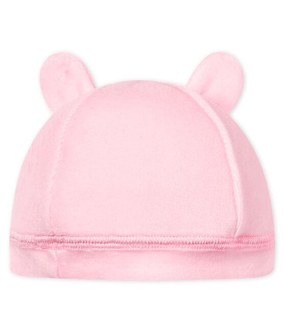 Unisex newborn baby velour bonnet Vienne pink