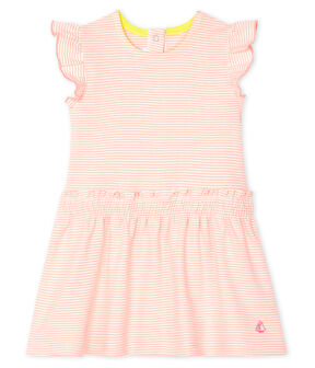 Baby Girls' Pinstriped Dress Patience pink / Marshmallow white