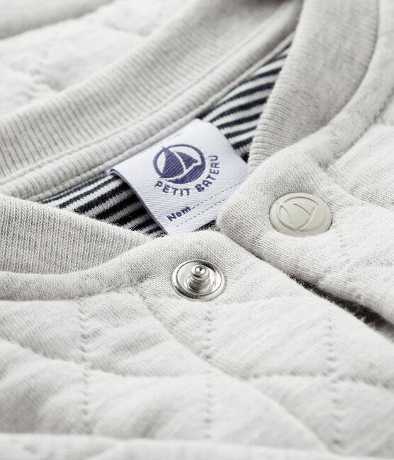 Baby boy's tubular knit cardigan Beluga grey
