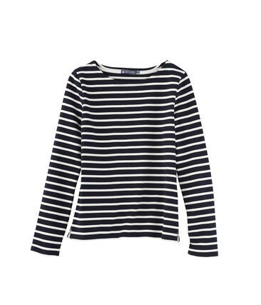Women's iconic heavy jersey breton - Previous collection Abysse blue / Coquille beige