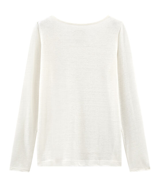 Tee-shirt manches longues femme en lin Marshmallow white