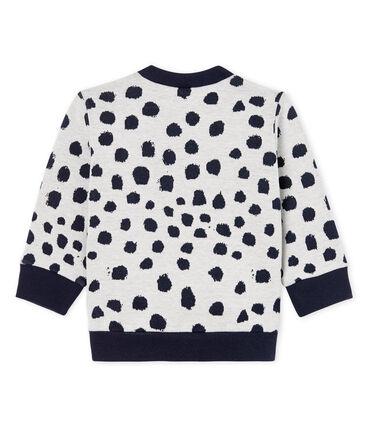 Unisex Babies' Sweatshirt by Jean Jullien MARSHMALLOW/DOTTIES