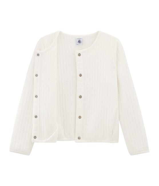 Girls' Cardigan Marshmallow white