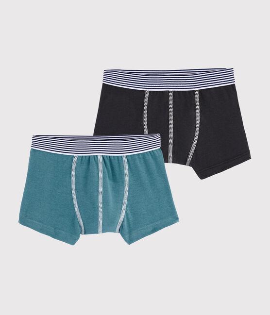 Boys' Plain Boxer Shorts - 2-Piece Set . set
