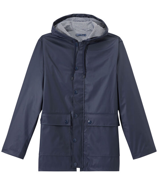 Unisex Iconic Waxed Coat Smoking blue
