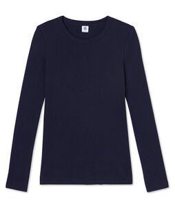 Women's Long-Sleeved Iconic T-Shirt Smoking blue