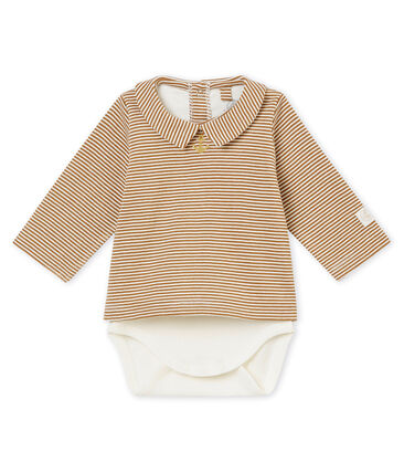 Baby boy's long sleeved tee-shirtbodysuit