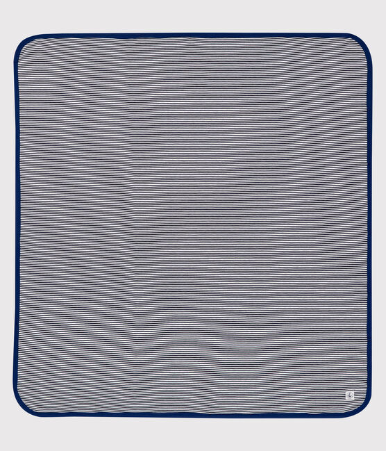 Blanket with anti-electromagnetic wave protection Smoking blue / Ecume white
