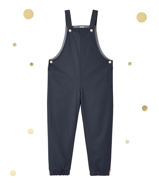 Baby's waxed waterproof jumpsuit Petit bateau x Marie-Agnès Gillot Smoking blue