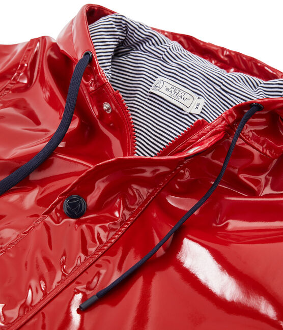 Women's glossy Raincoat Terkuit red
