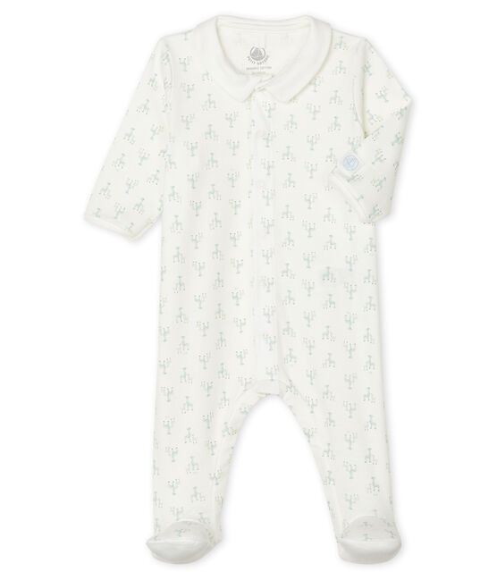 Baby Boys' Ribbed Sleepsuit Marshmallow white / Multico white