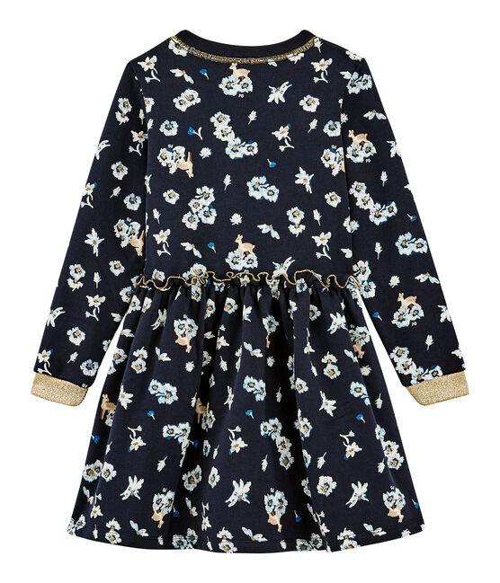 Girls' Print Dress Smoking blue / Multico white