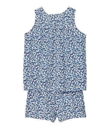 Girl's shortie pyjamas in print jersey