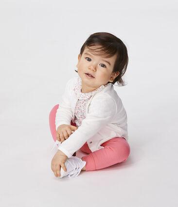 Baby Girls' Light Cardigan Marshmallow white