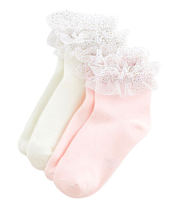 Set of 2 pairs of socks for girls . set
