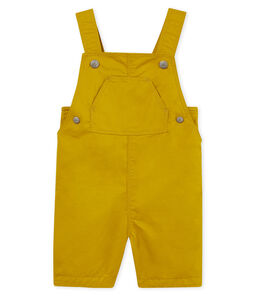Baby boys' short twill dungarees