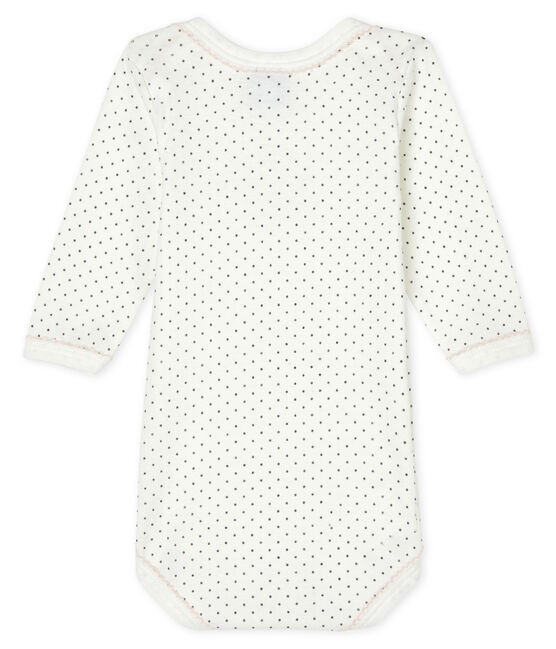 Babies' long-sleeved bodysuit Lait white / Maki grey