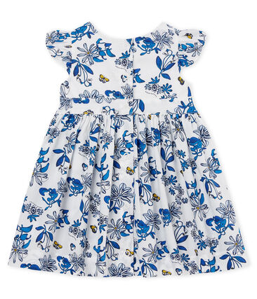Baby girls' printed dress Marshmallow white / Multico white
