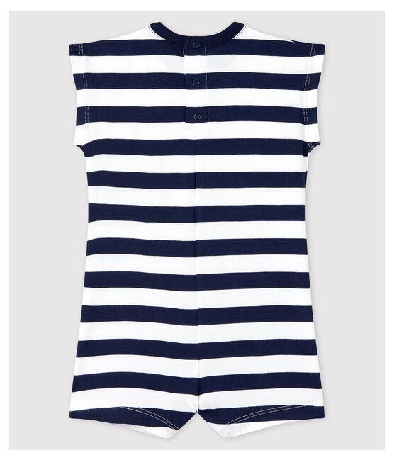 Baby Boys' Stripy Jersey Playsuit Smoking blue / Marshmallow white