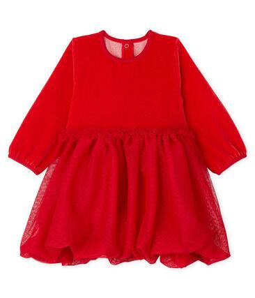 Baby Girls' Dress Terkuit red