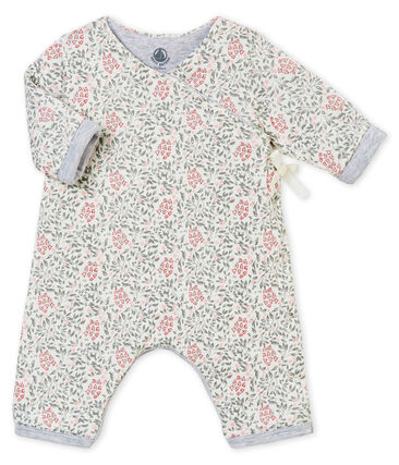 Bay girl's padded print all-in-one