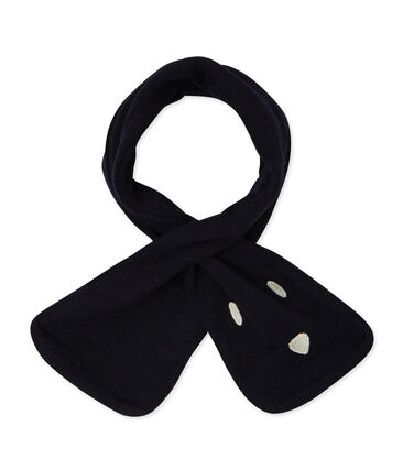 Unisex Baby Scarf Smoking blue
