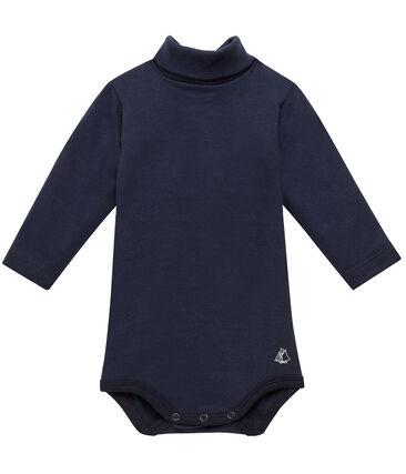 Baby roll neck bodysuit Smoking blue
