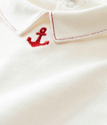 Baby boy's long sleeved blouse bodysuit
