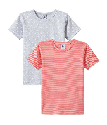 Set of 2 boys' short-sleeved t-shirts