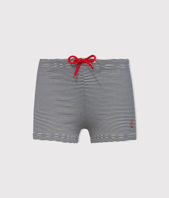 Baby Boys' UPF 50+ Swimming Trunks Abysse blue / Lait white