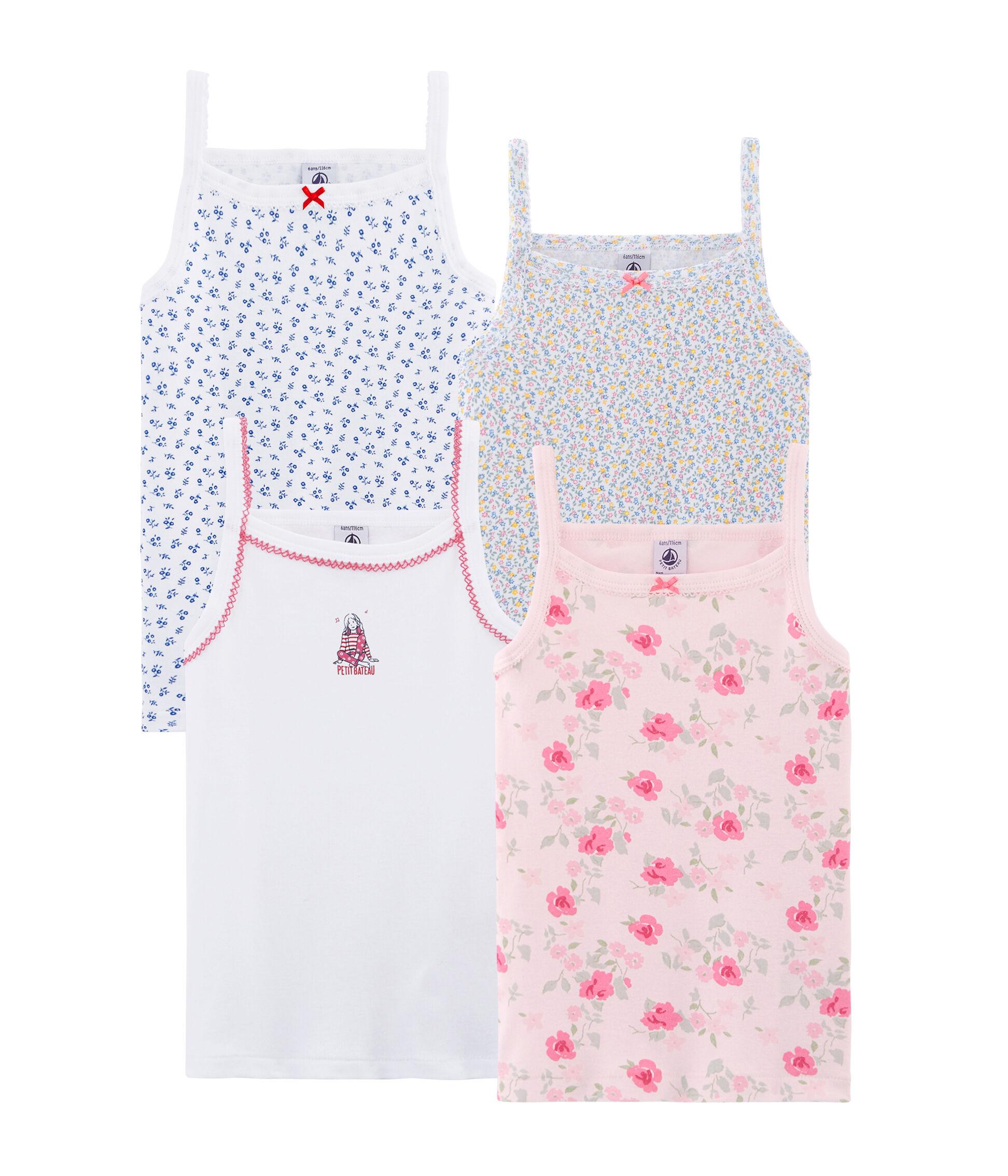 Pink 12 Years Petit Bateau Girls 2-pk Tank Tops