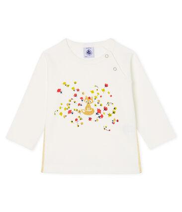 Baby Girls' Long-Sleeved T-Shirt Marshmallow Cn white