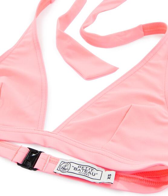 Women's Bikini Top Fluo Rose pink