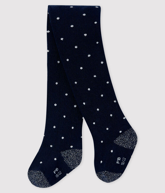 Baby girl's spotty tights SMOKING/ARGENT