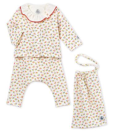 Baby girls' print clothing - 4-piece set