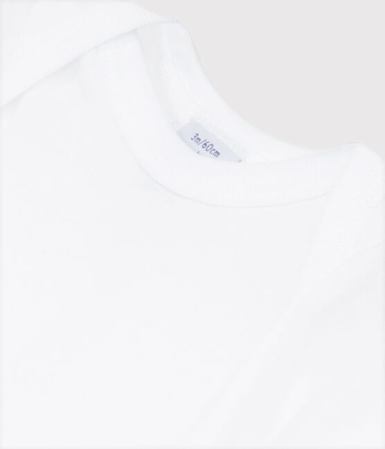 Babies' White Short-Sleeved Bodysuit Ecume white