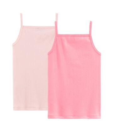 Lot de 2 chemises à bretelles pastel petite fille . set